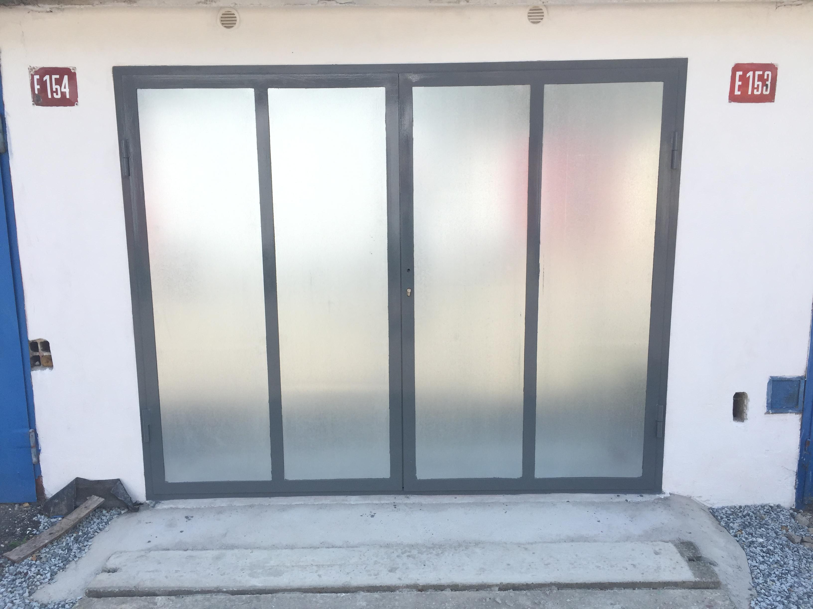 garážová vrata - finiš