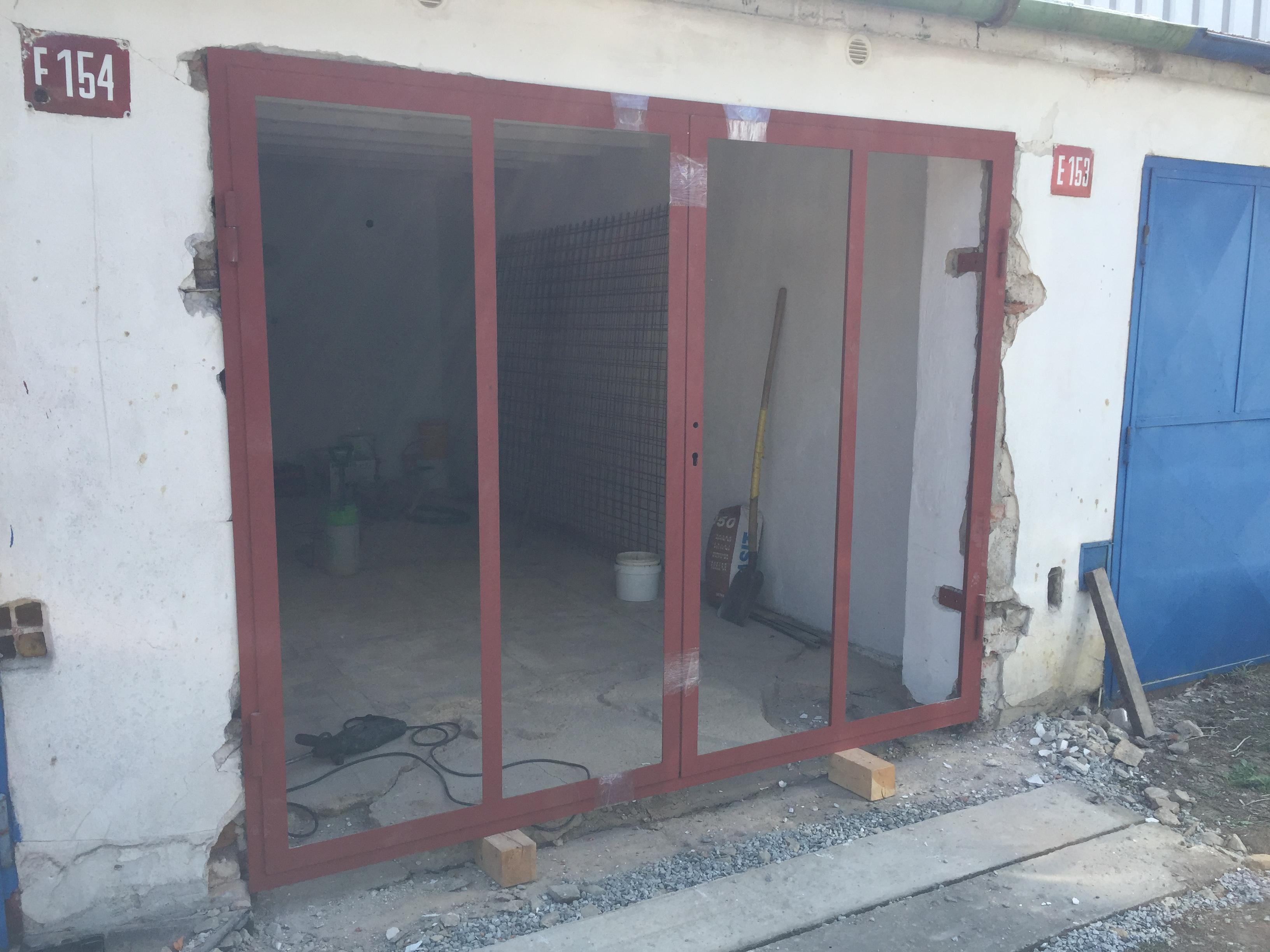 garážová vrata - montáž